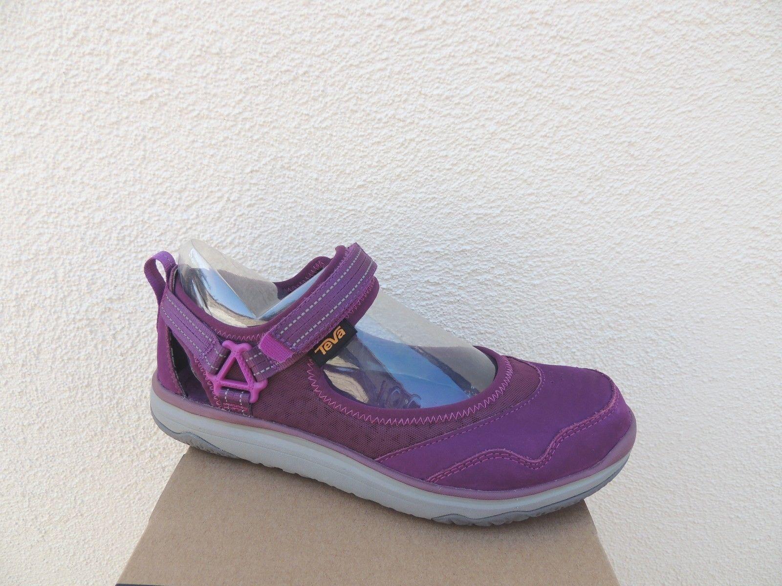 TEVA FLOAT DARK PURPLE LEATHER TERRA FLOAT TEVA TRAVEL MJ MARY-JANE Schuhe, US 8/ EUR 39 NEW 498150