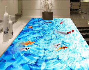 3D Karpfen Wellen Fototapeten Wandbild Fototapete Tapete Familie DE Lemon