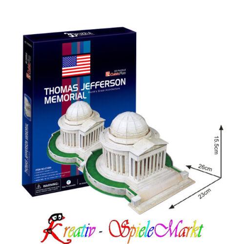 3D Puzzle Jefferson Memorial Washington USA Mittel Cubic Fun