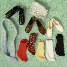 Vintage Ken Barbie Shoes Single Socks Belt Wash Cloth Accessories Lot VGUC