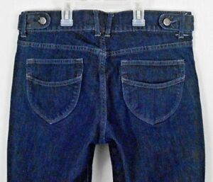 Old-Navy-Jeans-Shorts-Womens-Size-8-Blue-Denim-Capri-Cropped-Stretch-Skimmer