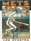 1986 Topps Len Dykstra #53 Baseball Card