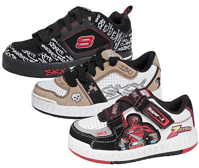 Skechers Skate Shoes Boys Leather