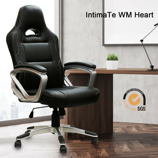 Astounding Intimate Wm Heart B01I4Gsep4 Executive Racing Gaming Office Chair Pu Leather Black Machost Co Dining Chair Design Ideas Machostcouk