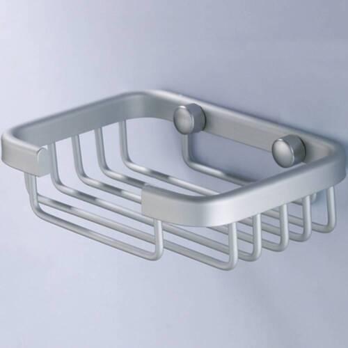 Wall Mounted Bathroom Bath Shower Soap Aluminium Storage Holder Rack Dish Basket