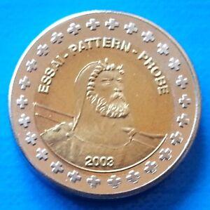 Switzerland 2 euro cent 2003 UNC Cow Flower Essai Probe