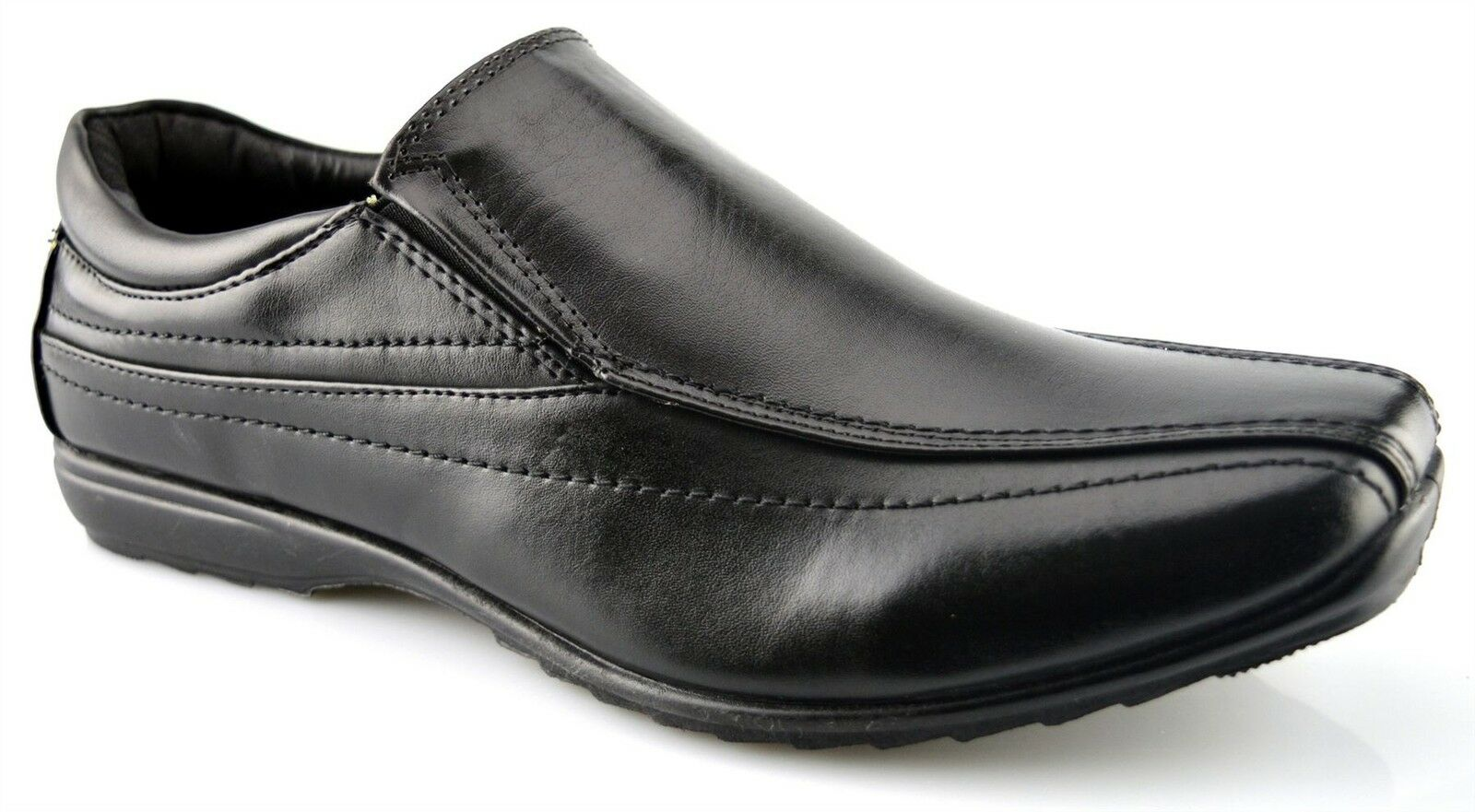 Mens Work New Slip On Office Work Mens Back To School Twin Gusset Formal Shoes Size 7-12 a49dff