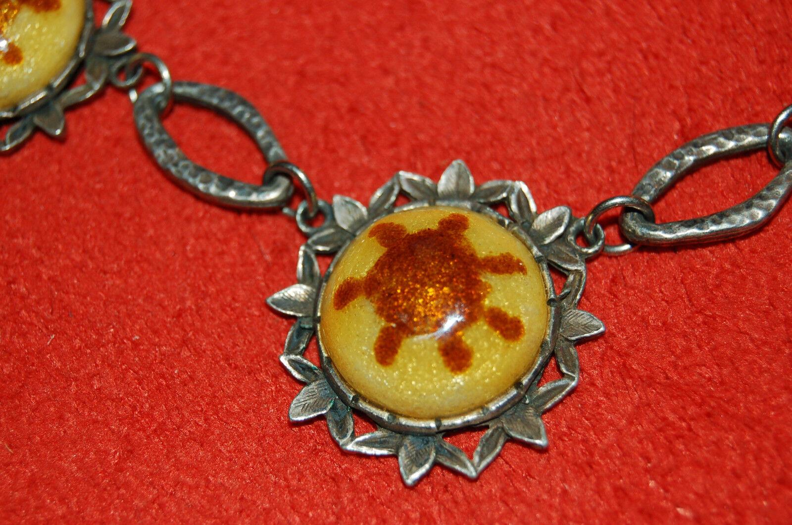 Ancien collier émaux sur cuivre - Raz le cou 41 41 41 5 cm 4b7fa1