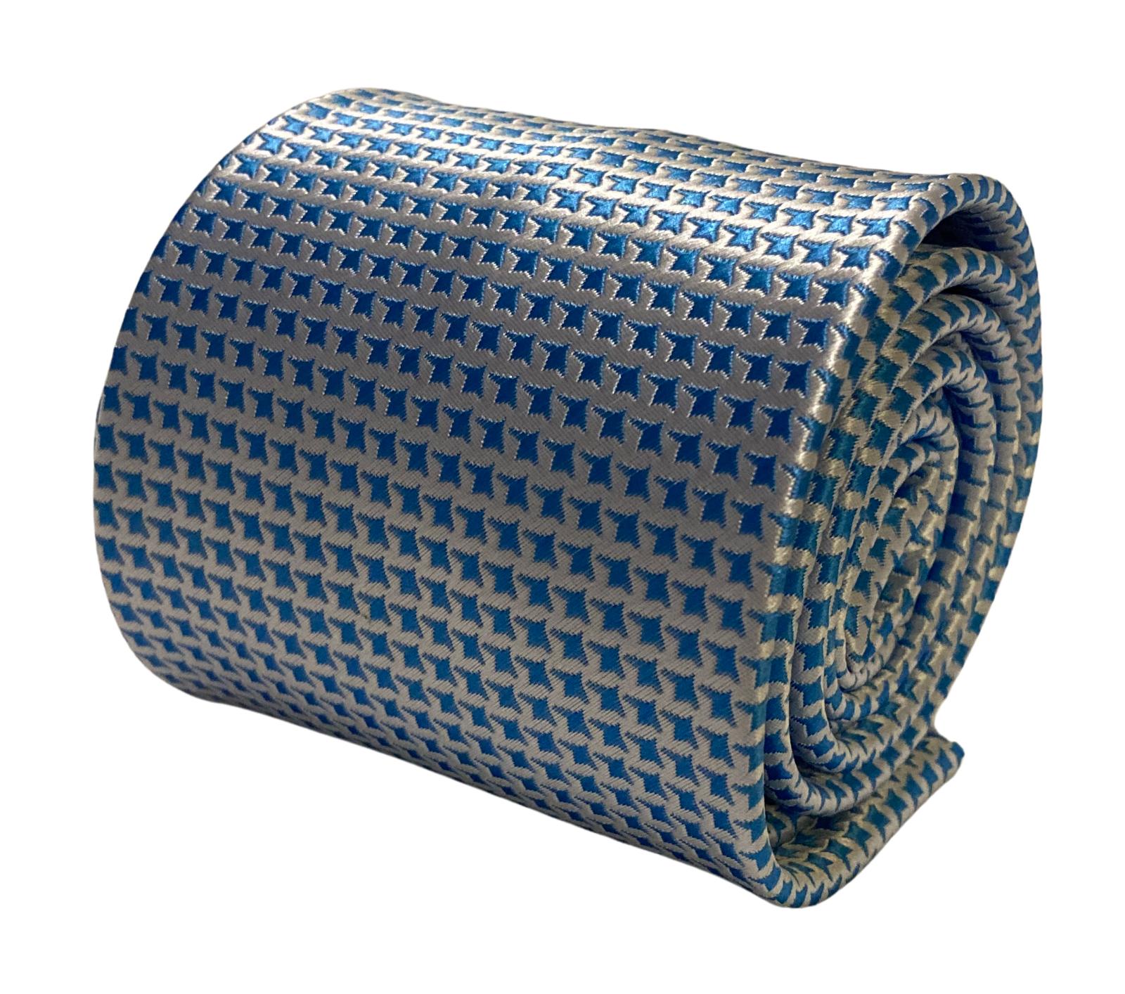 Frederick Thomas Designer Men-S Krawatte Elfenbein Creme & Hellblau Herren