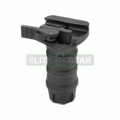Black Tactical QD Short Stubby Vertical Fore Grip for 20mm Picatinny Weaver Rail