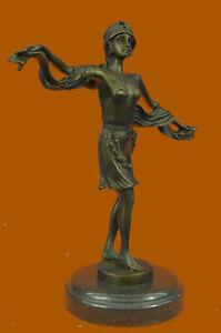 Hecho-a-Mano-Frances-Moulin-Rouge-Dancer-Bronce-Estatua-De-Mirval-Arte-Escultura