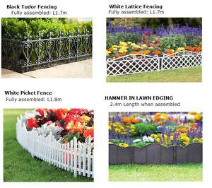 Image Is Loading Plastic Garden Lawn Edging Fencing Lattice Picket Tudor