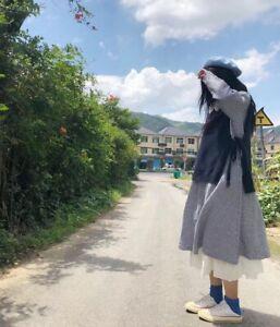 Détails sur Gilet pull laine asymétrique Mori retro ancien Shabby chic tricot vintage Japon