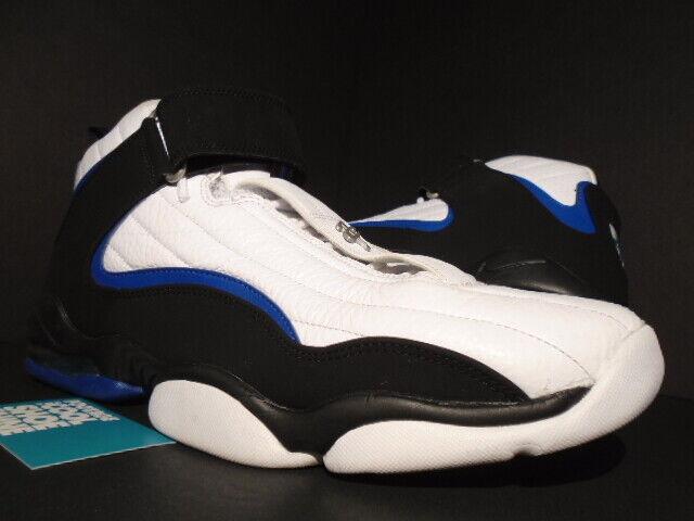 buy popular 9d76d 36763 2017 Nike Air Penny IV 4 White Black Atlantic Blue Max 1 864018-100 13 for  sale online   eBay