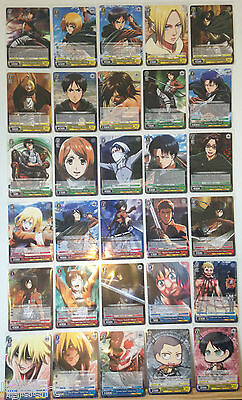 Weiss Schwarz Attack on Titan English Edition R /& RR Card Selection