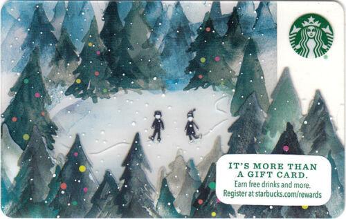 Forest Skate 2015 NEW Starbucks Gift Card Winter Christmas Holidays