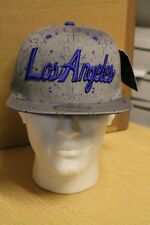 KB Ethos Gris/Azul Los Angeles Gorra/Gorro sombrero de Béisbol Pico Plana