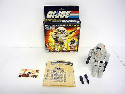 GI JOE BATTLE ARMOR SNAKE Vintage Figure Vehicle Cobra COMPLETE w/BOX 1983