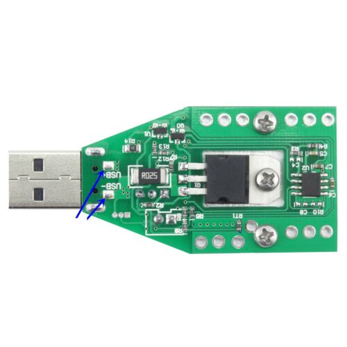 USB Adjustable Constant Current electronic load Tester for QC2.0 Power Bank CA