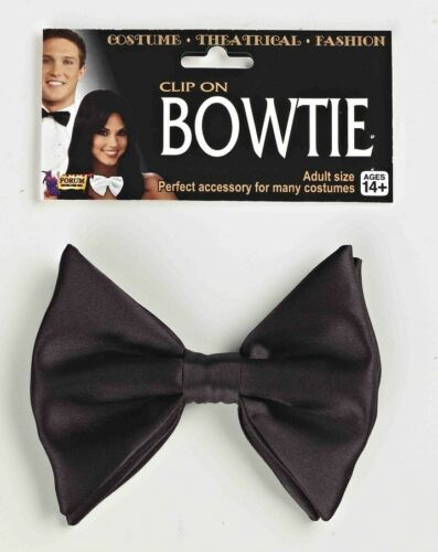 Clip On Bow Tie Formal Tux Fancy Dress Up Halloween Costume Accessory 2 COLORS