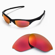 New WL Polarized Fire Red Replacement Lenses For Oakley Half Jacket Sunglasses