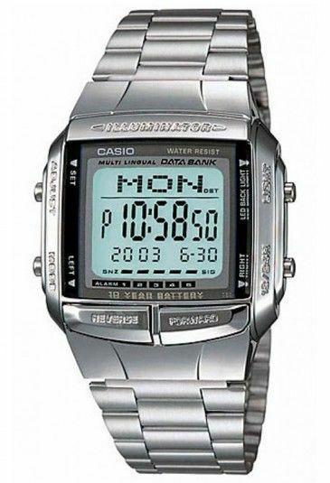 orologio Polso Digitale, Argento DB-360-1ADF Digitale DataBank Unisex Acciaio C
