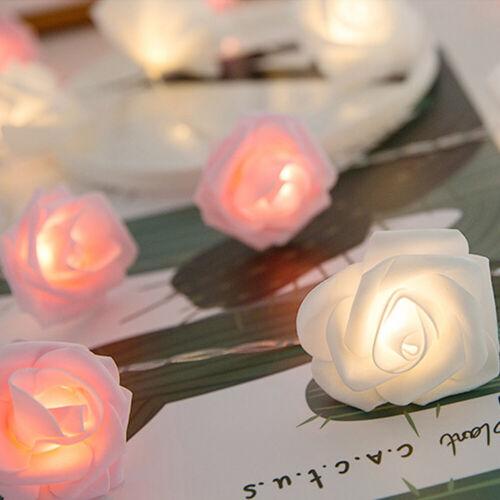 20LED Lichterkette Rosenlichterkette Valentinstag Beleuchtung Partybeleuchtung