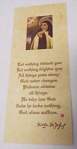 Saint-Teresa-of-Avila-Prayer-Card-3rd-Class-Relic-Image-1-New-from-Spain