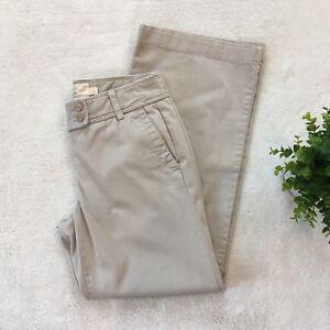 J-Crew-Womens-4-Khaki-City-Fit-Cotton-Twill-Chino-Pants