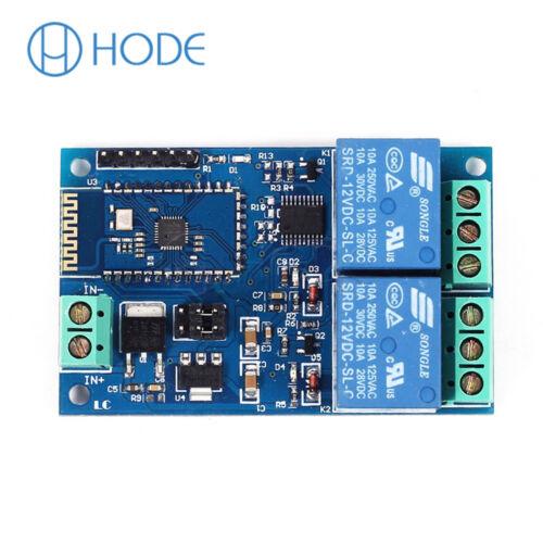 5V//12V 2CH Bluetooth Módulo De Relé Control Remoto de aplicación móvil hogar inteligente Reino Unido