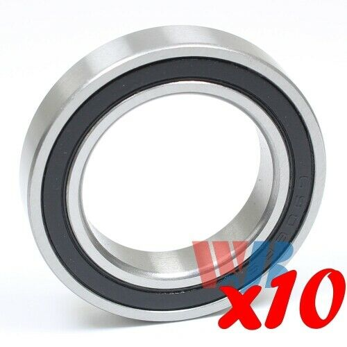 Set of 10 BALL BEARING WJB 6707-2RS WITH 2 RUBBER SEALS