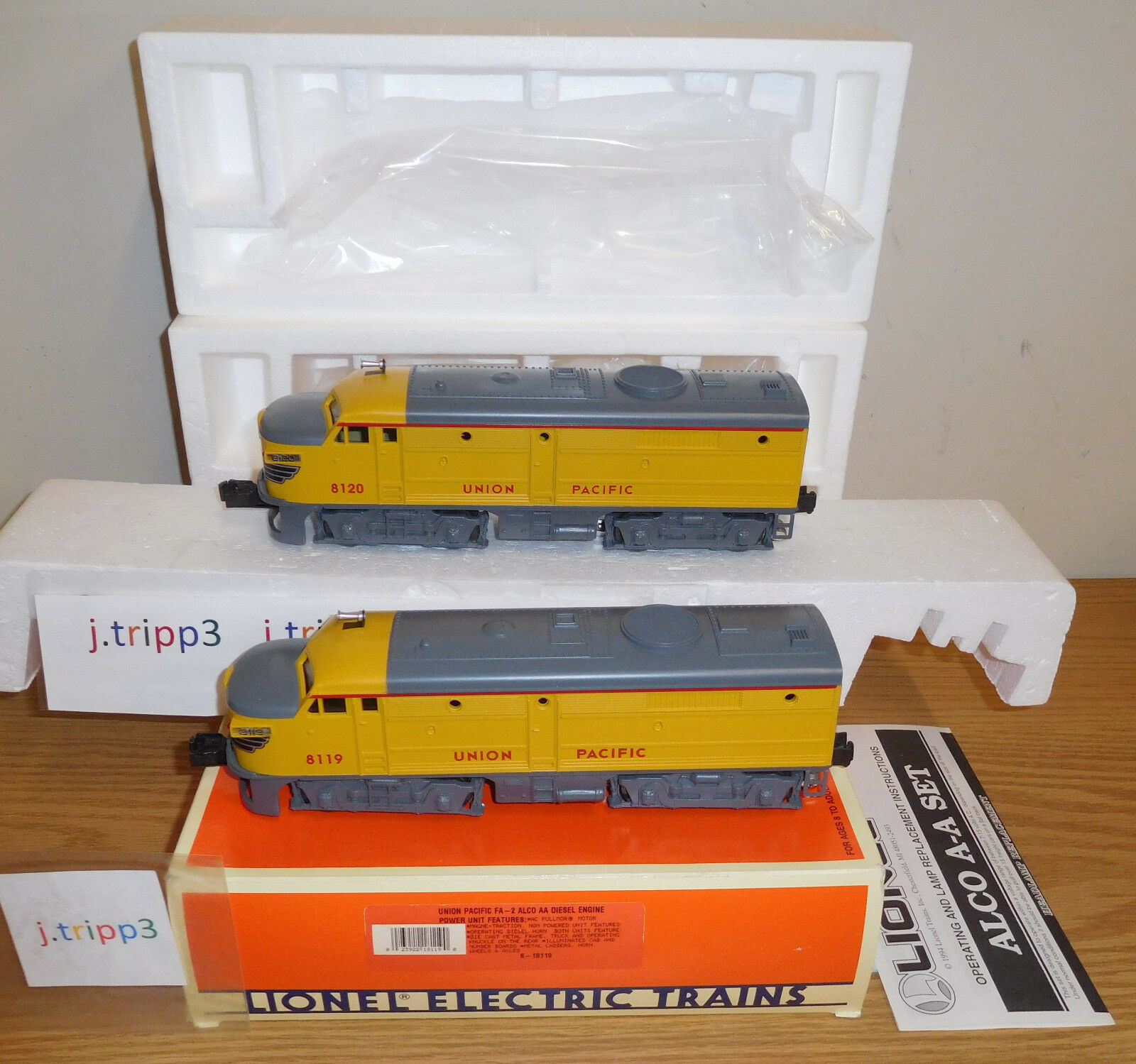 LIONEL 18119 UNION PACIFIC ALCO AA DIESEL ENGINE LOCOMOTIVE TRAIN O GAUGE SEALED