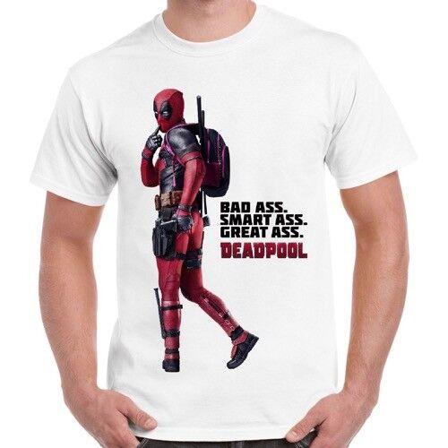 Deadpool mauvaises fesses Smart âne drôle Marvel Comics Rétro Vintage T Shirt 443