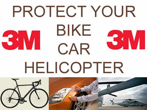 3M Tough Helicopter copter Car Bike Frame Protection OPVC Clear Tape RHINO HIDE