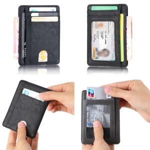 Vintage-Men-Leather-RFID-Blocking-Slim-Wallet-Money-ID-Credit-Card-Holder-Purse