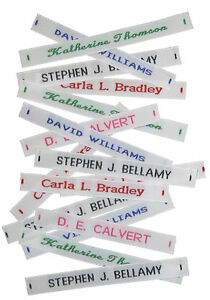 250 School Name tapes//Labels IRON-ON Uniform tags Soft satin fabric INC POSTAGE
