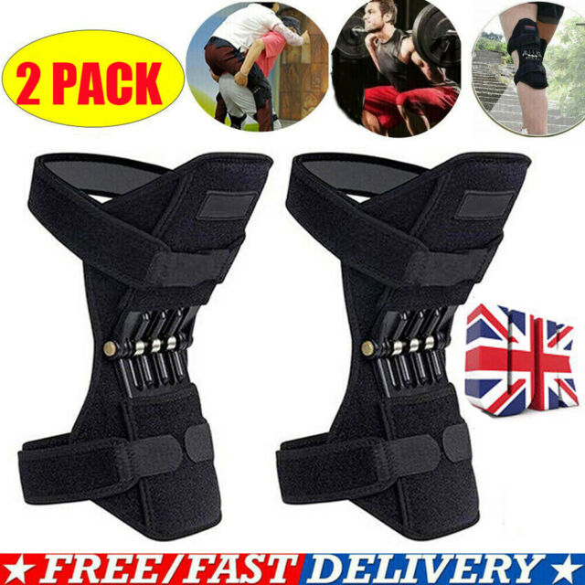 2x Knee Protect Booster Leg Band Lift Joint Stabilizer Pads Rebound Spring Force
