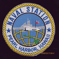 US NAVAL STATION PEARL HARBOR PATCH US NAVY MARINES PIN UP USS ARIZONA WW 2 GIFT