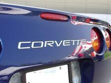 97-04 C5 Corvette Rear Bumper 1/8th Acrylic Letters Kit Inserts in Chrome Mirror