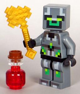 LEGO-Minecraft-Skull-Arena-Player-1-Minifigure-Axe-Healing-Potion-21145-NEW