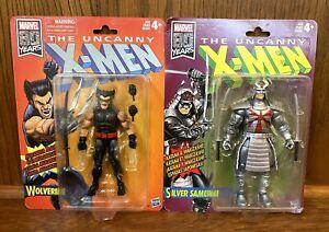 Wolverine-amp-Silver-Samurai-Uncanny-X-Men-Retro-Marvel-Legends-Figures-Lot-New