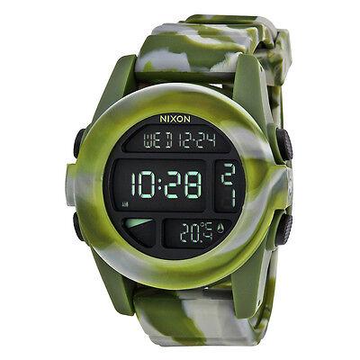 Nixon Mens Unit Digital Green Chrono Automatic Watch A1971727