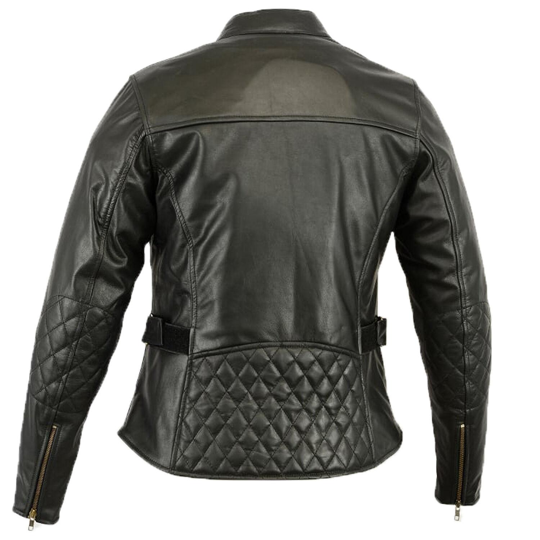Chaqueta De Cuero women Retro Motocicleta  las señoras tamaño 40 black  sales online