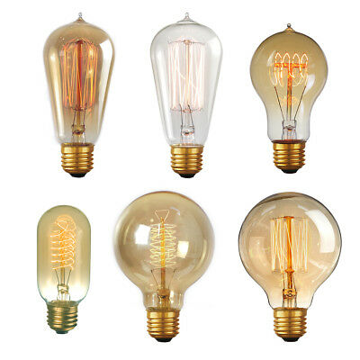 Edison Vintage Light Bulbs 60w Old Fashioned Retro Style Filament Lamp Bulb Ebay