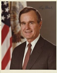 Bush 8x10 Signed Photo Print Presidential Seal Autograph George H W