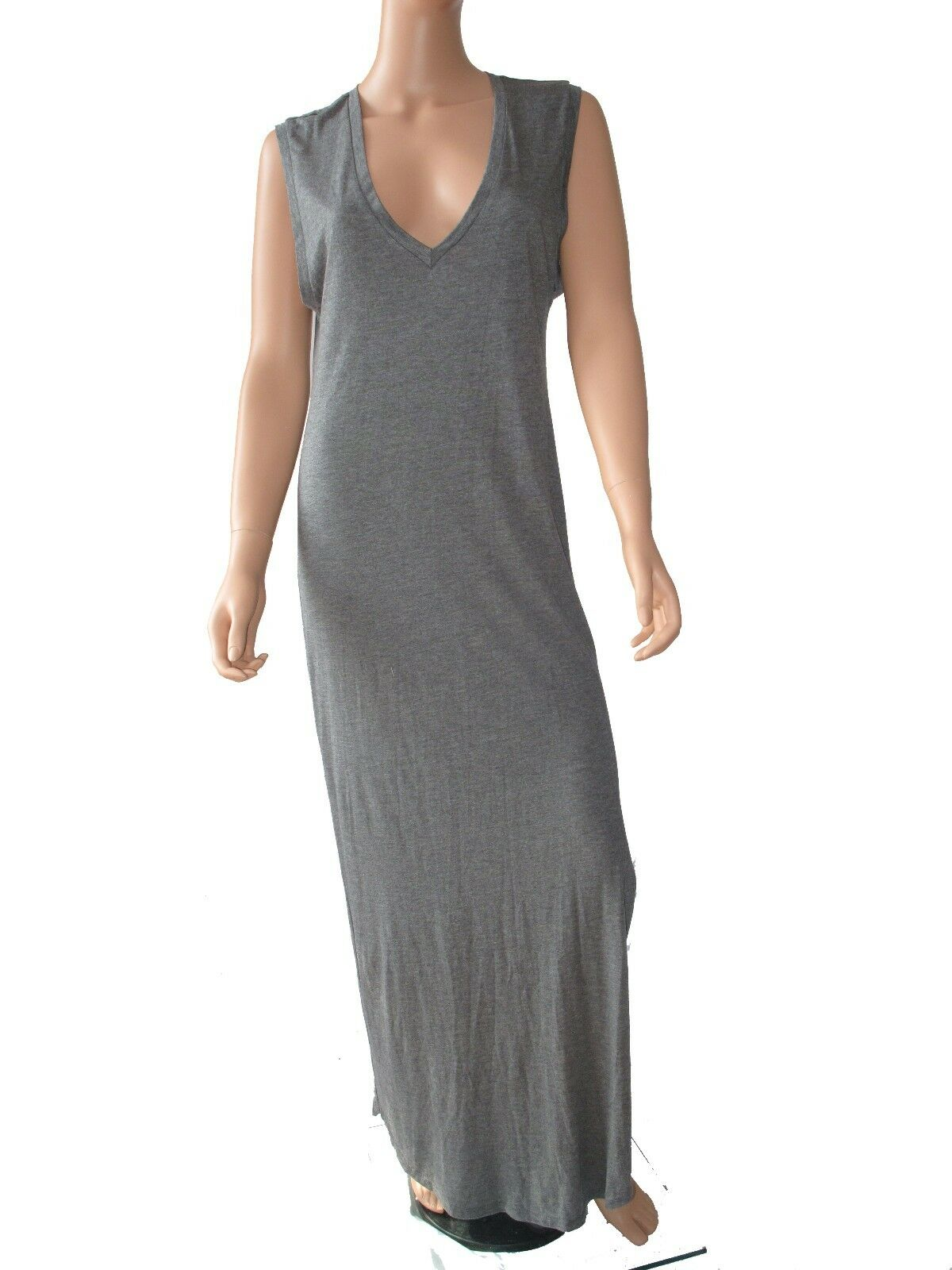 Haute Hippie Sleeveless Muscle Gown Maxi with side slit Clubwear Dress   M