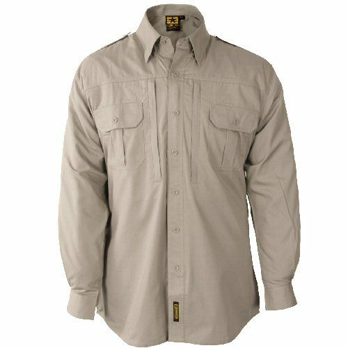 Tan Khaki Propper Lightweight Tactical Combat Police Security Bushcraft Shirt
