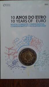 """coincard 2 euros portugal 2012 """"10 ans"""""""