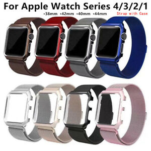 6f37a5db046 Milanese Loop Strap Stainless Watch Band + Case For Apple iWatch ...