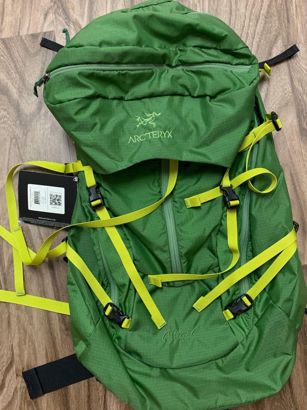 Arc 'Teryx Altra 50 Lumière Léger 50 L Sac à dos-Neuf avec étiquettes-vert pin